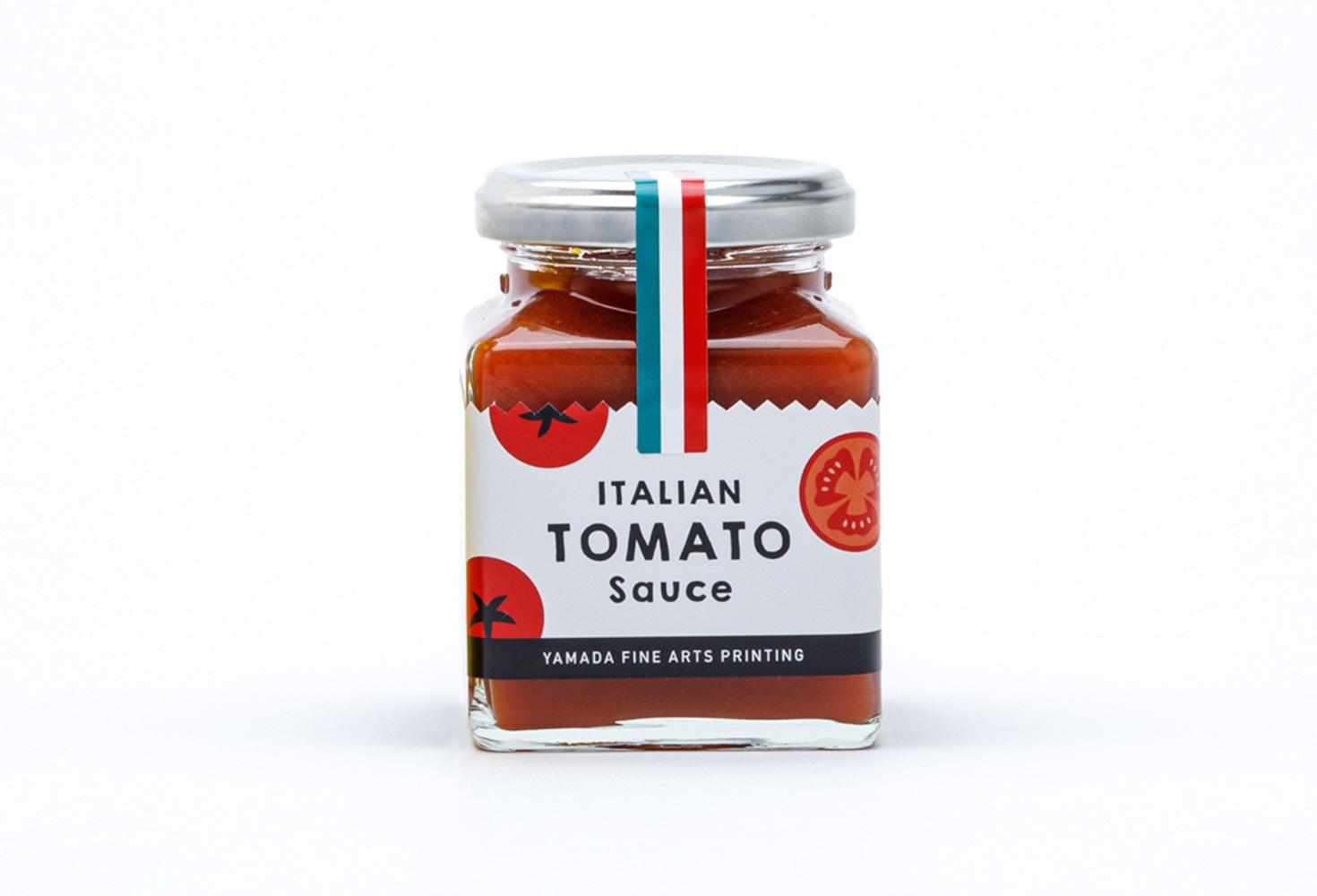 お家時間を楽しめるトマトソースラベル