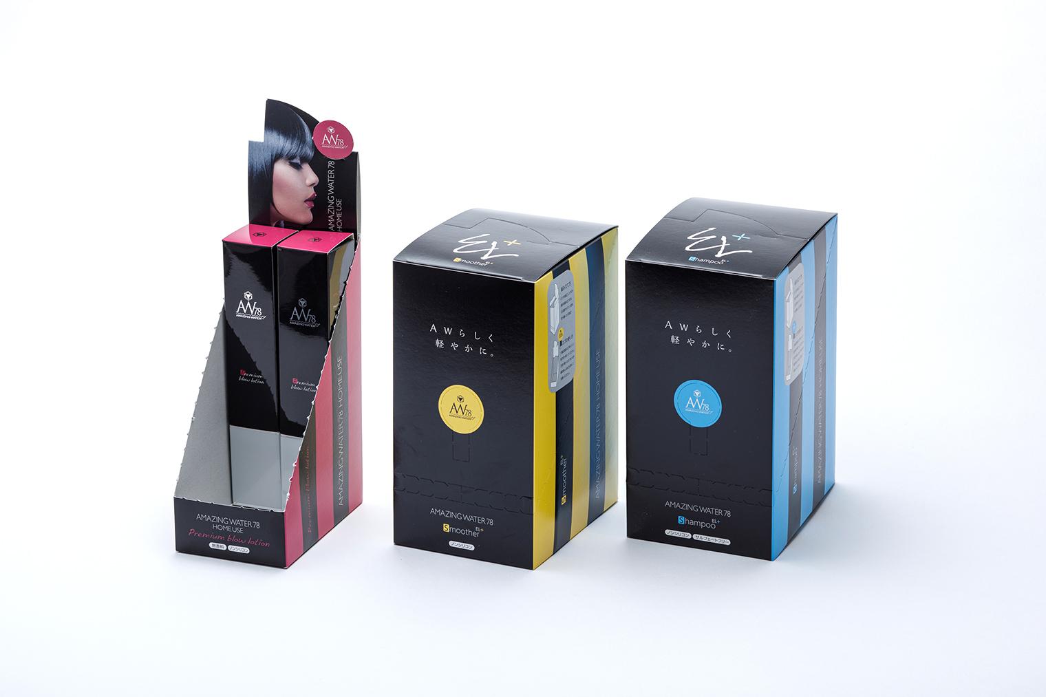 インパクトのあるカラーで存在感を放つパッケージデザイン
